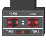 Vector illustration of a LED hockey scoreboard with fully  Stock Images