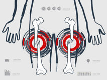 Vector illustration of the leg Stock Images
