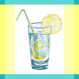 Vector illustration lemonade flat vintage label Stock Photography