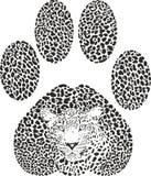 Vector illustration Leopard footprint Royalty Free Stock Photo