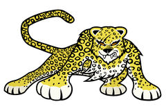 Vector illustration. Leopard. Stock Images