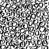 Vector illustration Leopard print seamless pattern. Black and white background. Vector illustration Leopard print seamless background pattern. Black and white Royalty Free Stock Photo