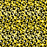 Vector illustration leopard print seamless pattern. Yellow hand drawn background. Vector illustration leopard print seamless pattern. Yellow hand drawn royalty free illustration
