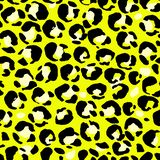 Vector illustration leopard print seamless pattern. Yellow hand drawn background. Vector illustration leopard print seamless pattern. Yellow hand drawn vector illustration