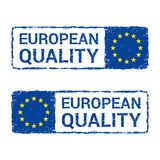 European Union quality, EU vector letter stamp. royalty free illustration