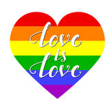 Lgbt heart on white background Stock Images