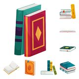 Vector illustration of library and bookstore  sign. Collection of library and literature  stock symbol for web. Isolated object of library and bookstore  logo stock illustration