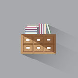 Vector illustration library catalog of books Royalty Free Stock Photos