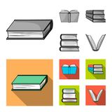 Vector illustration of library and textbook logo. Collection of library and school stock vector illustration. Isolated object of library and textbook icon. Set stock illustration