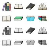 Vector illustration of library and textbook logo. Set of library and school vector icon for stock. Isolated object of library and textbook icon. Collection of royalty free illustration