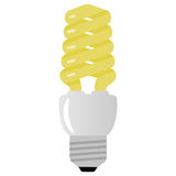 Vector illustration of light bulb on white Royalty Free Stock Photo
