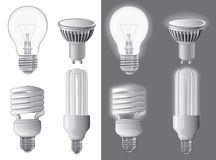 Vector illustration of light bulbs Stock Image
