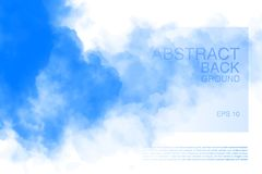 Vector illustration of light clouds in blue sky. Abstract backdrop with realistic cloud motif. Natural horizontal backdrop royalty free illustration