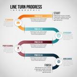 Line Turn Progress Infographic Stock Photography