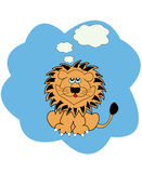 Vector illustration with lion Royalty Free Stock Photos