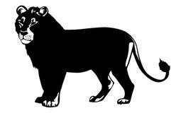 Vector illustration lion Stock Photography