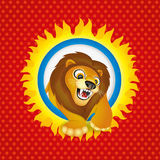 Vector illustration. Lion. Stock Photography