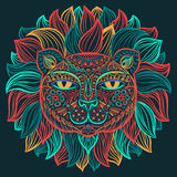Vector illustration. Lion. Stock Image