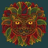 Vector illustration. Lion. Stock Images
