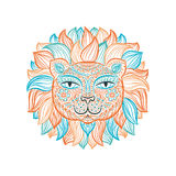 Vector illustration. Lion. Royalty Free Stock Image