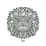 Vector illustration. Lion. Royalty Free Stock Photos