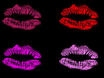 Vector illustration of lips stamp. Vector illustration of beautifull red lips stamp Stock Images