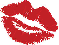 Vector illustration of lips stamp Stock Images