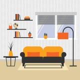 Vector illustration of living room interior. Royalty Free Stock Photos