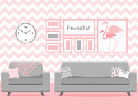 Vector illustration with living room Stock Image