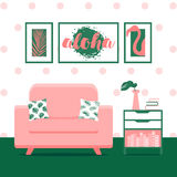 Vector illustration with living room Royalty Free Stock Photography