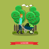 Vector illustration of loader in flat style. Royalty Free Stock Images