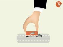 Vector illustration of logistics concept design stock illustration