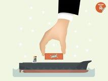 Vector illustration of logistics concept design Stock Photography
