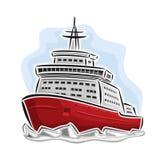 Vector illustration of logo for arctic icebreaker Stock Photo