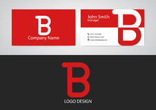 Vector illustration of logo and business card.  Royalty Free Stock Photos