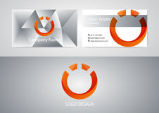 Vector illustration of logo and business card.  Royalty Free Stock Photography