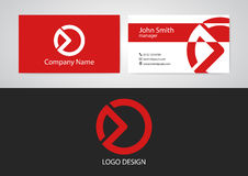 Vector illustration of logo and business card Royalty Free Stock Image