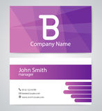 Vector illustration of logo and business card Royalty Free Stock Images