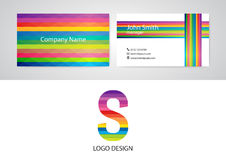 Vector illustration of logo and business card Royalty Free Stock Photos