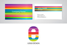 Vector illustration of logo and business card Stock Photos