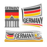 Vector illustration of the logo for Germany Stock Photography