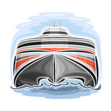 Vector illustration of logo for high-speed car ferry catamaran Stock Images