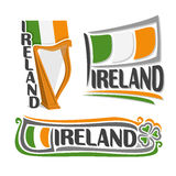 Vector illustration of the logo for Ireland Royalty Free Stock Photo