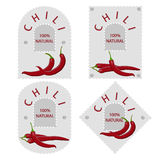 Vector illustration of logo on the label for paper chili Royalty Free Stock Photo