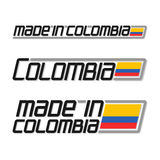 Vector illustration logo `made in Colombia` Royalty Free Stock Photography
