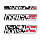 Vector illustration of the logo for made in Norway Stock Photography