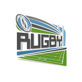 Vector illustration for logo of rugby Stock Photos