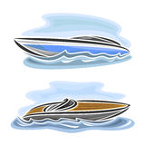 Vector illustration of logo for speed boat Royalty Free Stock Photos