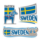 Vector illustration of the logo for Sweden Stock Photography