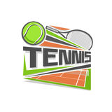 Vector illustration logo tennis Royalty Free Stock Image